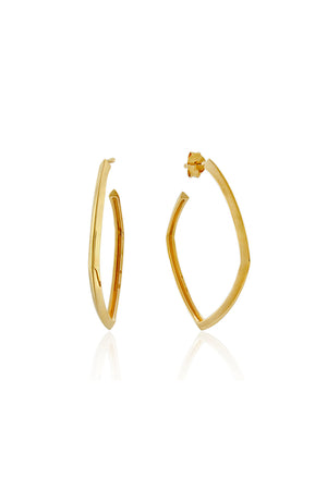 ACCENT HOOP EARRINGS MEDIUM GOLD