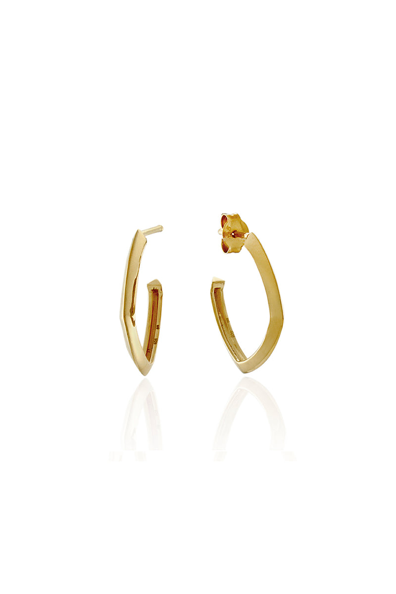ACCENT HOOP EARRINGS SMALL GOLD