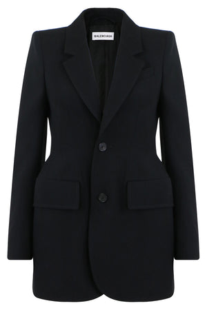 SINGLE BREASTED HOURGLASS BLAZER BLACK