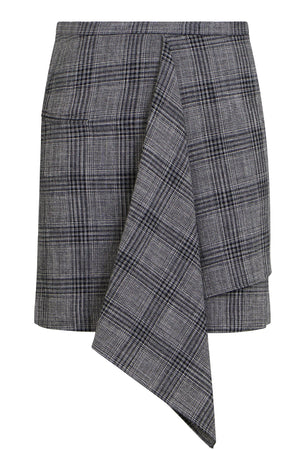 DOLEYLI CHECK MINI SKIRT BLACK/ECRU