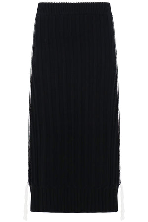 RIBBED KNIT SKIRT BLACK