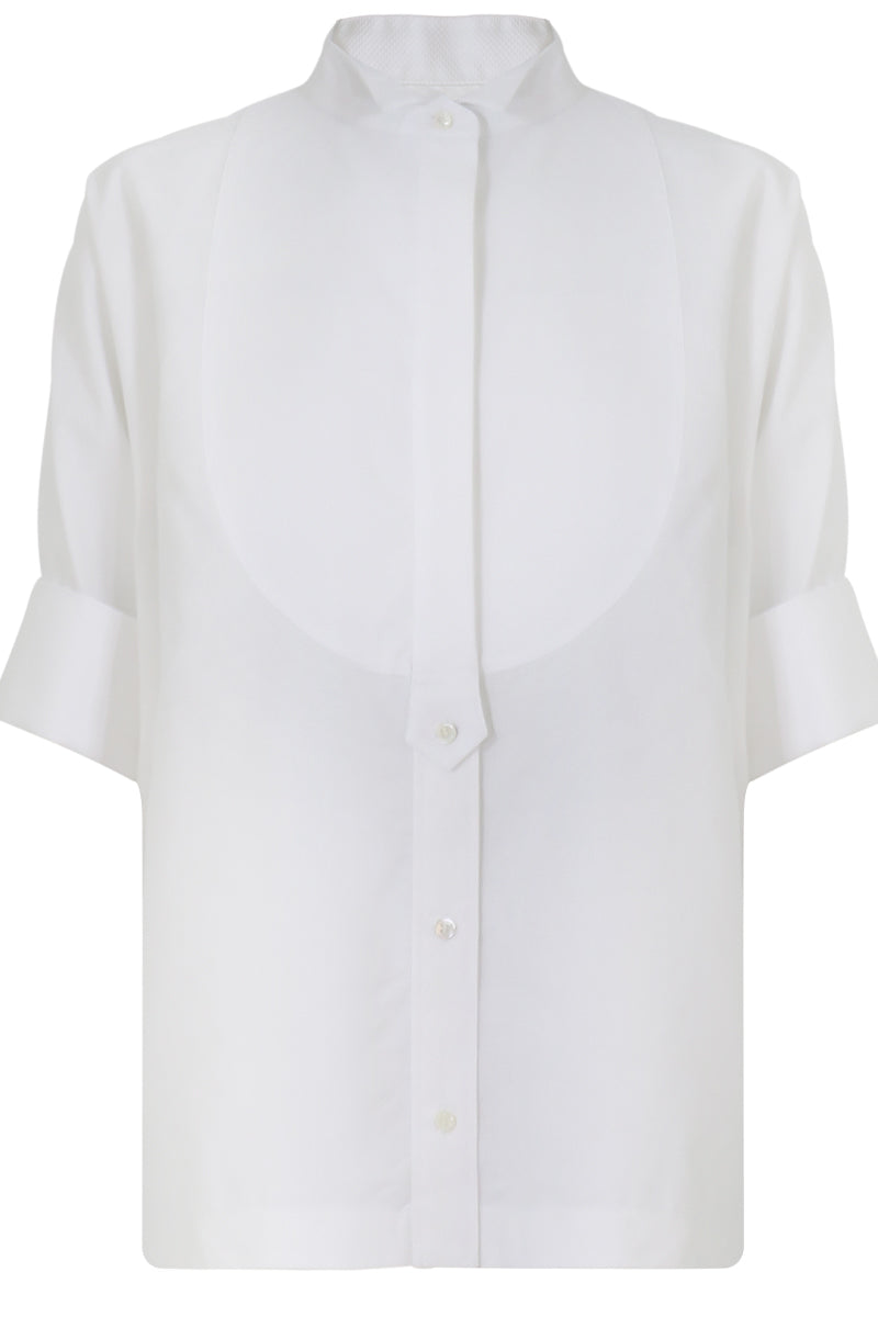 OVERSIZED POPLIN SHIRT S/S WHITE
