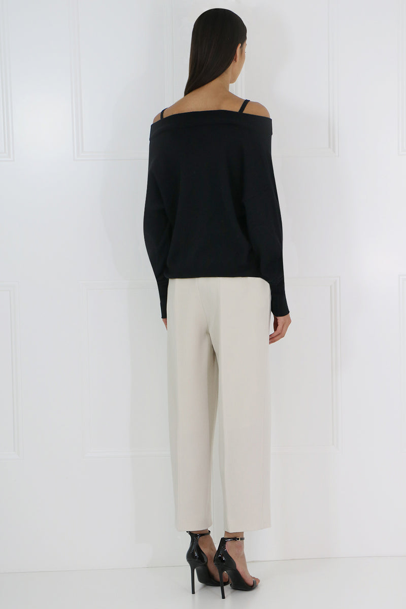 WIDE LEG CROPPED PANT LIGHT BEIGE