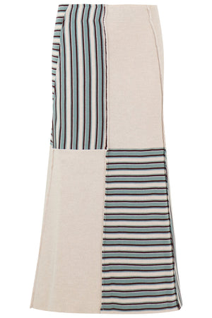 STRIPE PANEL SKIRT WHITE/MULTI