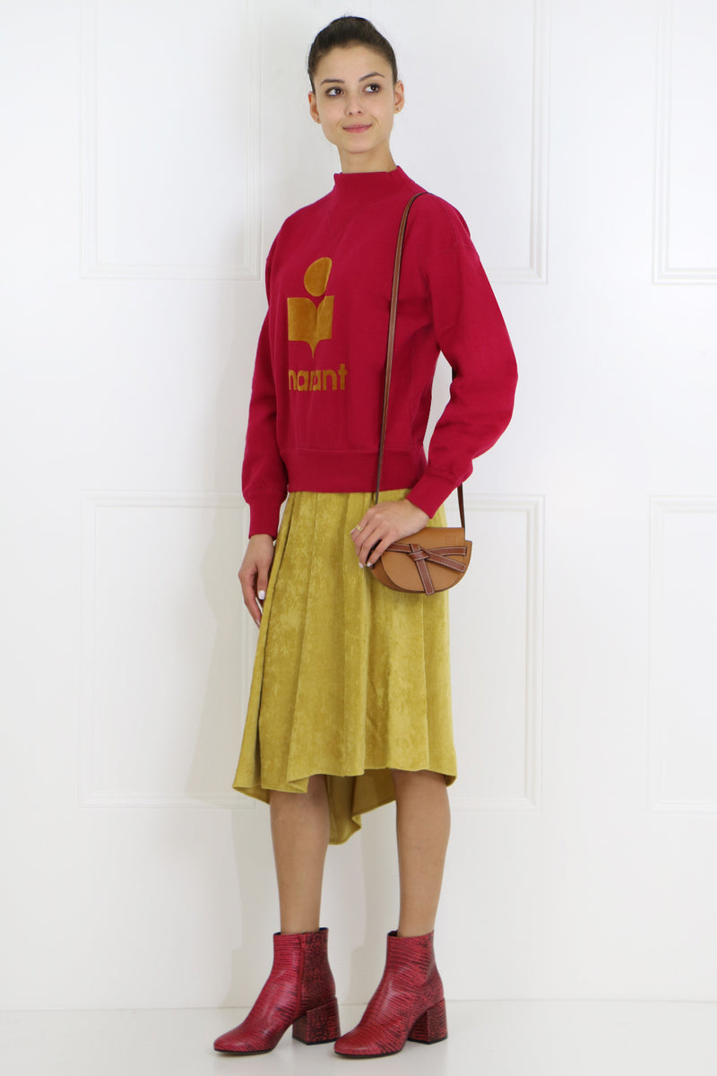 FREJA CORDUROY MIDI SKIRT DUSTY YELLOW