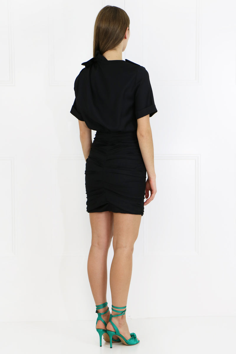 ETOILE ORIA MINI DRESS  S/S BLACK