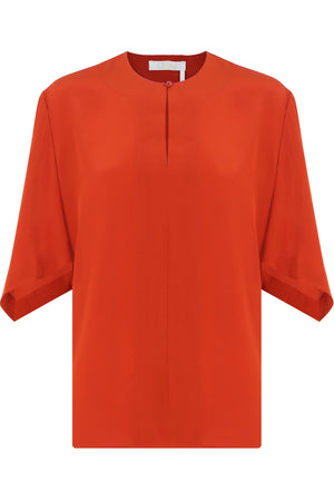 BATWING BLOUSE 3/4SL ORANGE