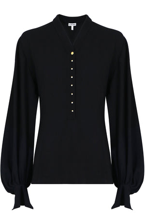 BALLOON SLEEVE BLOUSE L/S BLACK