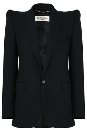 STRUCTURED SHOULDER BLAZER BLACK
