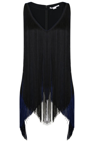 MABEL FRINGING TOP BLACK