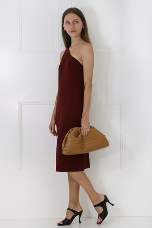 THE POUCH WOVEN LEATHER CARAMEL