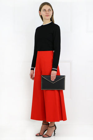 WIDE LEG CULOTTES TOMATO RED