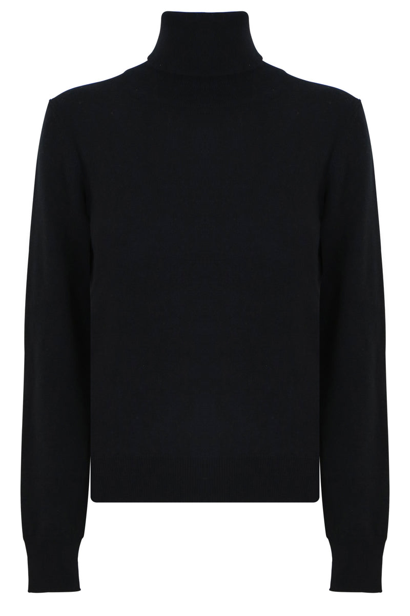 TURTLENECK L/S KNIT BLACK