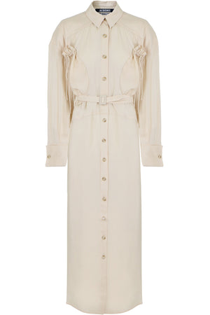 VALMY TRENCH DRESS L/S BEIGE