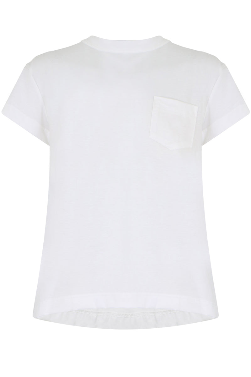 LACE UP BACK T-SHIRT WHITE
