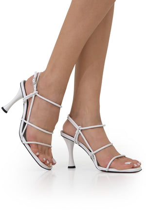 STRAPPY SANDAL 90MM WHITE
