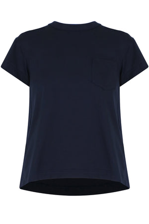 LACE UP BACK T-SHIRT S/S NAVY