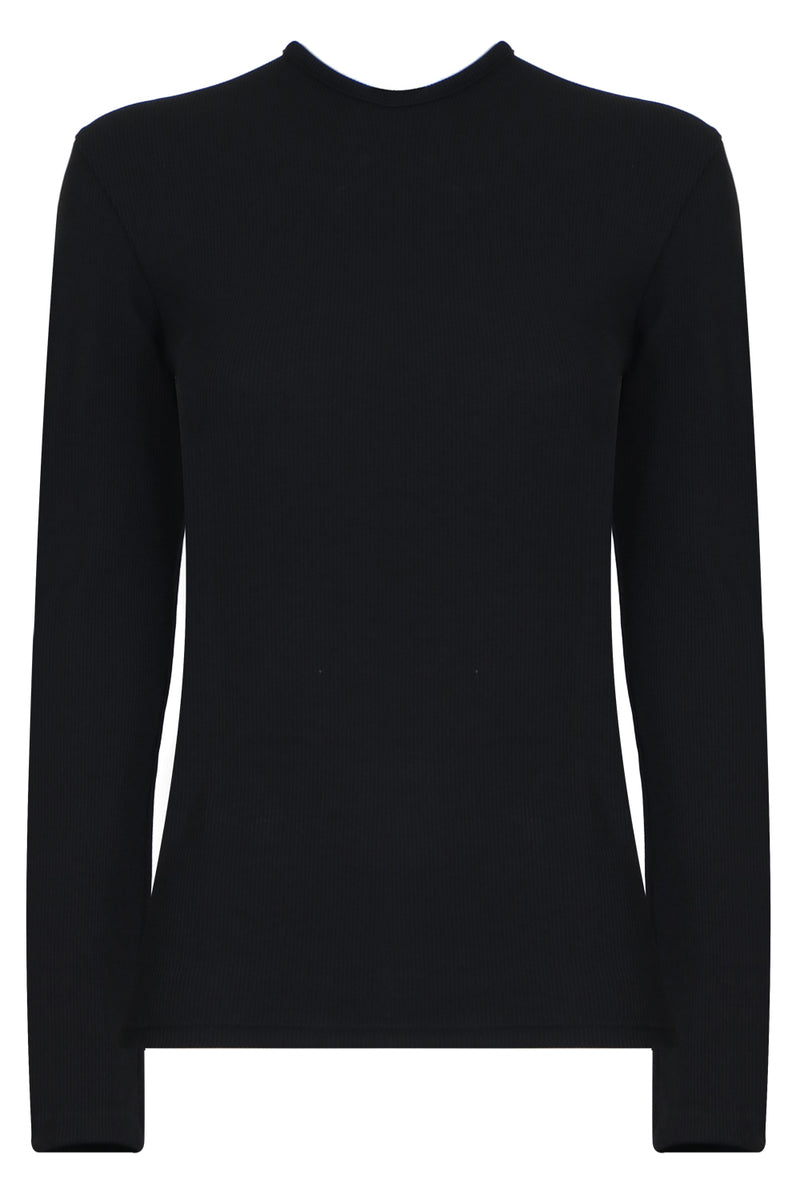 ORBIT RUCHED TOP L/S BLACK