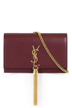 KATE TASSEL CHAIN WALLET DARK RED