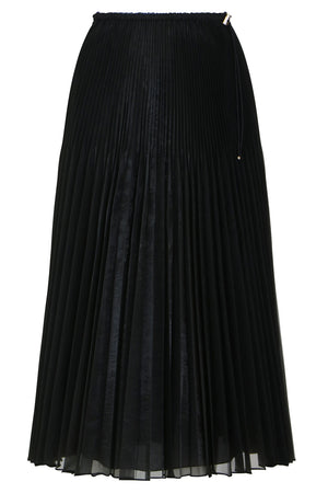 ORGANZA PLEATED SKIRT BLACK