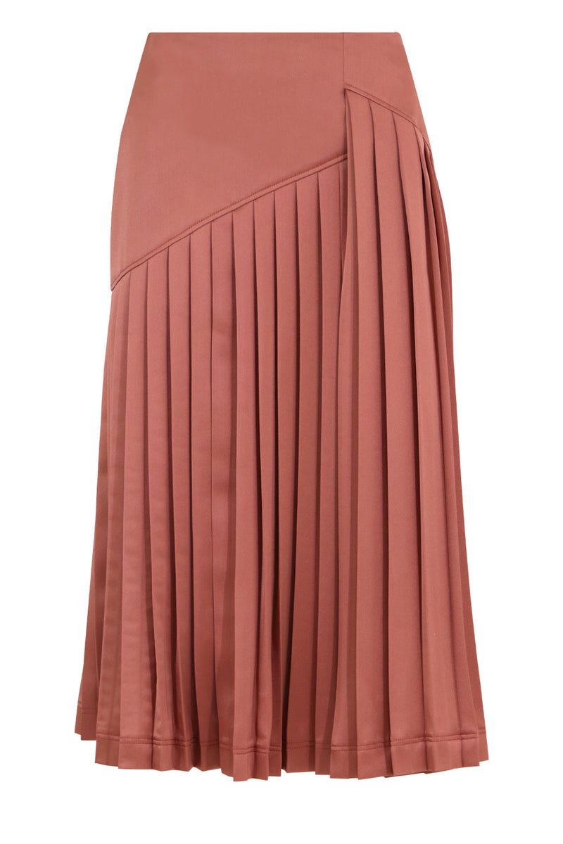 KNIFE PLEATED SKIRT PINK