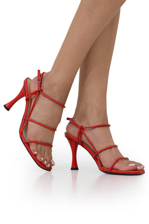 STRAPPY SANDAL 90MM RED