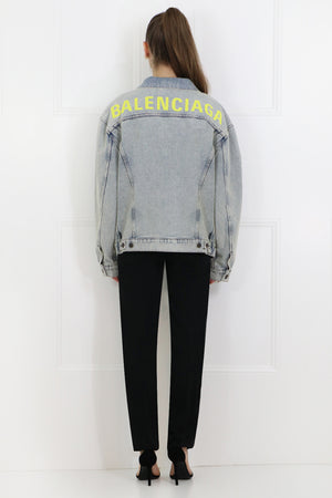 80'S LOGO JACKET BLEACH DENIM
