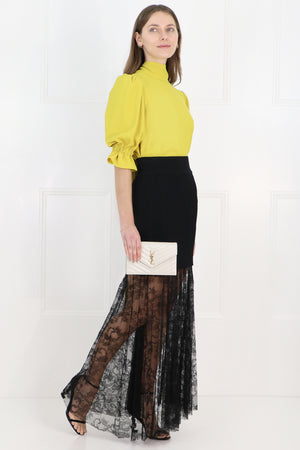 ARS DOUBLE LAYER LACE SKIRT BLACK