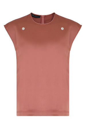 EYELET BLOUSE S/LESS PINK