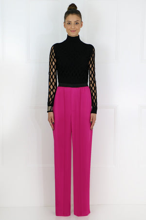 CLASSIC WIDE LEG PANTS FUSCHIA