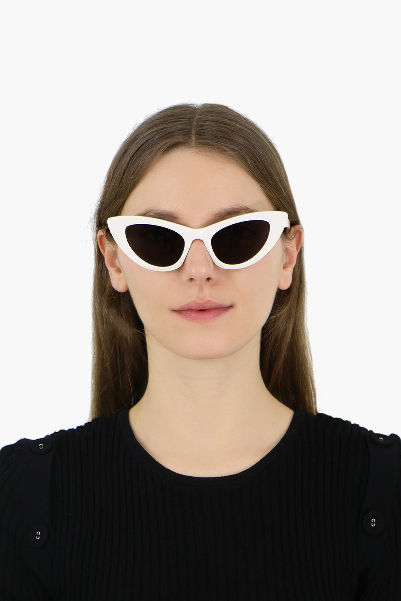 LILY CAT EYE SUNGLASSES IVORY