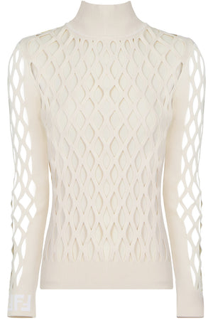 CUTOUT KNIT L/S CREAM