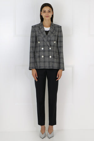 DALLIN CHECK BLAZER BLACK/ECRU
