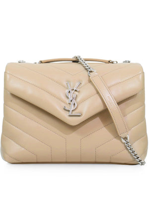LOULOU SMALL FLAP BAG NUDE/SILVER