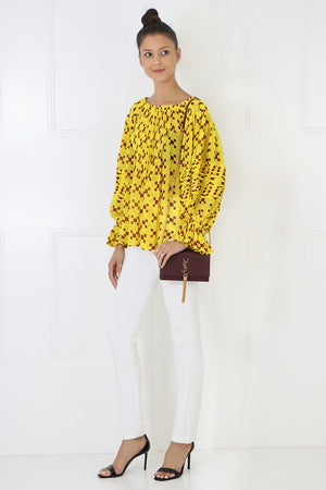 AVA PUFF SLEEVE BLOUSE ZEPHIRE YELLOW
