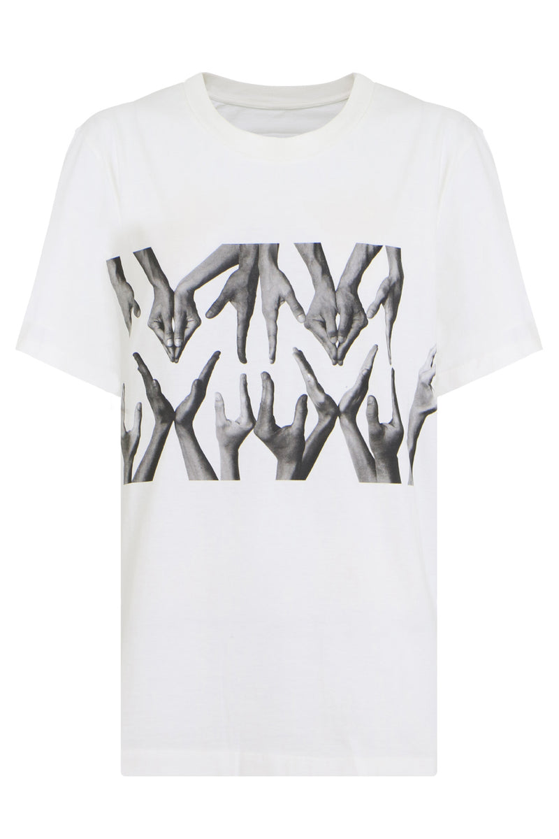 MM6 LOGO T-SHIRT S/S WHITE