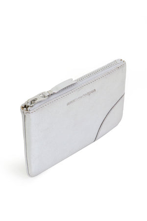 SMALL CLASSIC LEATHER POUCH SILVER