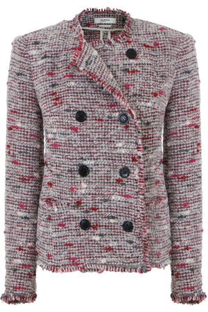 ETOILE JORSON BUTTONED JACKET RED