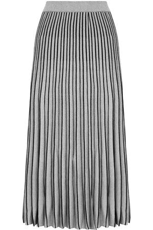 METALLIC PLEATED SKIRT SILVER