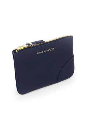 SMALL CLASSIC LEATHER POUCH NAVY