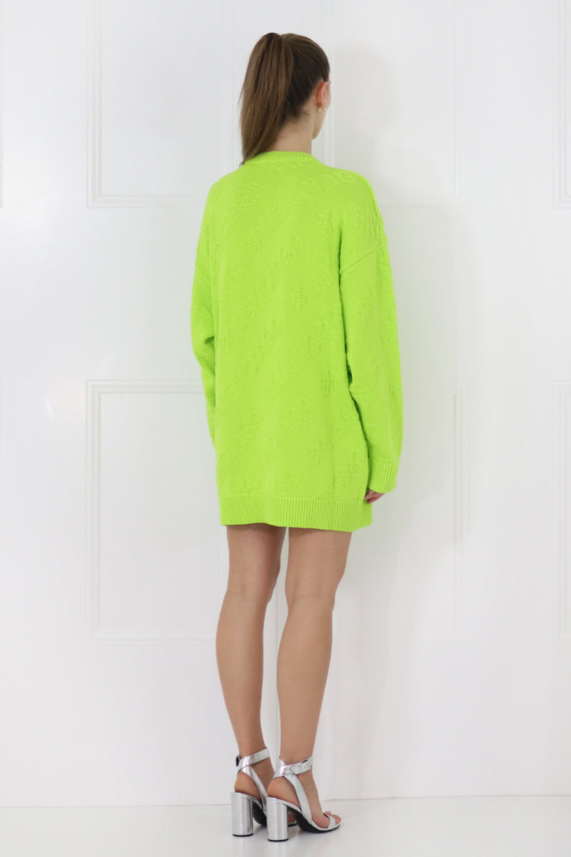 3D LOGO KNIT L/S LIME