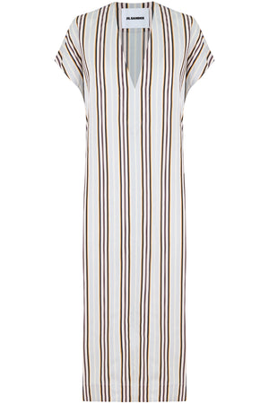STRIPE V-NECK TUNIC DRESS MULTI