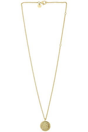 COIN PENDANT NECKLACE GOLD