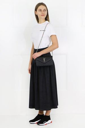 ANNA FAUX SUEDE SKIRT BLACK