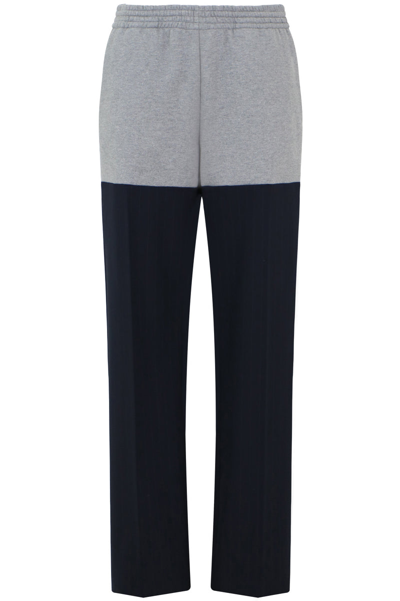 OVERSIZED SUITING TRACKPANTS GREY/NAVY
