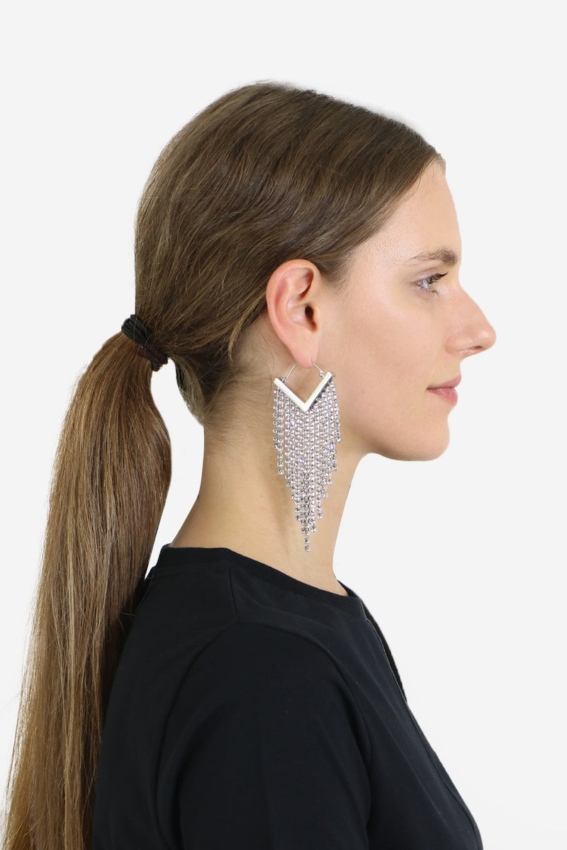 CASCADE EARRINGS SILVER