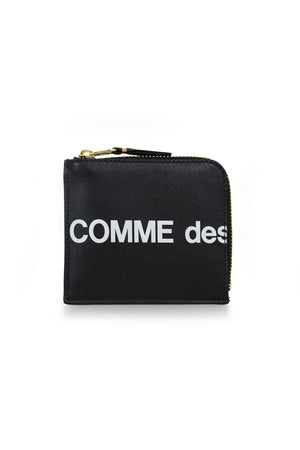 'HUGE LOGO ZIP' WALLET BLACK