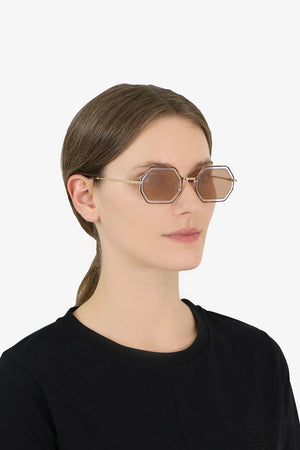 TALLY METAL SUNGLASSES HAVANA/BRONZE