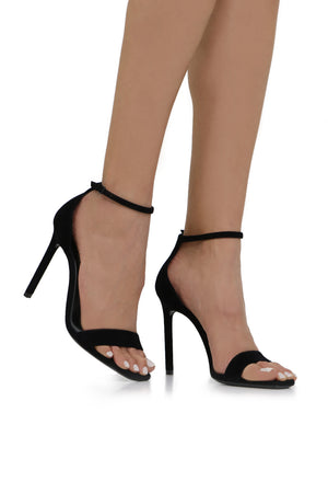 AMBER SANDAL 105MM BLACK SUEDE