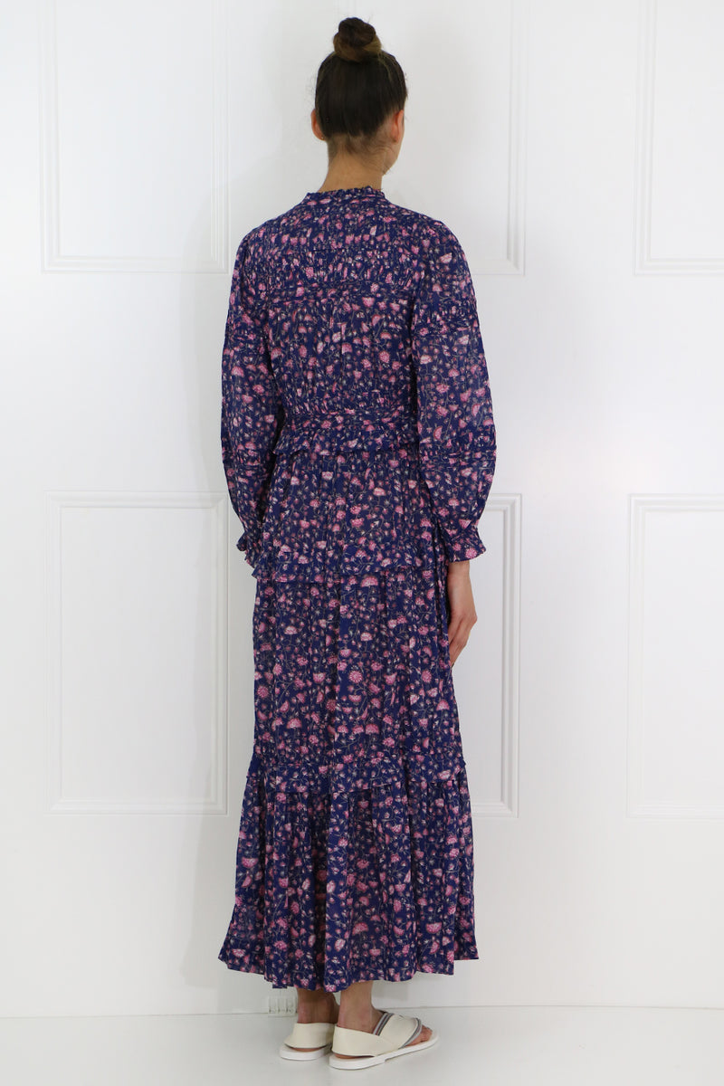 ETOILE LIKOYA L/S MAXI DRESS MIDNIGHT